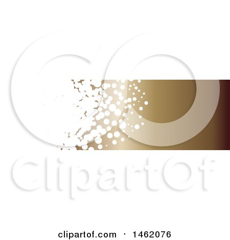 Clipart of a White Bubble and Gradient Brown Website Header Banner - Royalty Free Vector Illustration by KJ Pargeter