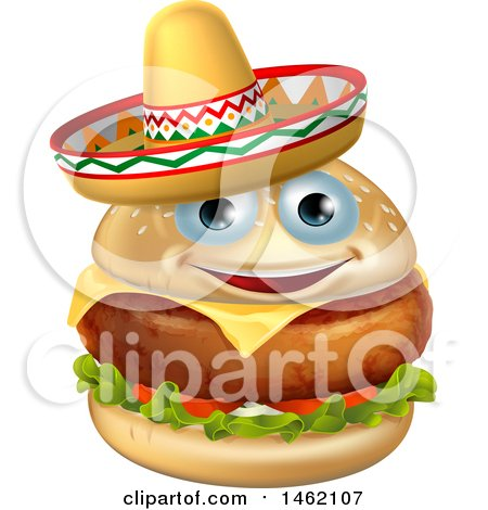 clipart of a cinco de mayo design with a chili pepper, maracas and