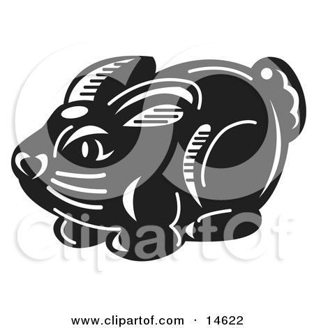 Black And White Chocolate Easter Bunny Candy Clipart Illustration