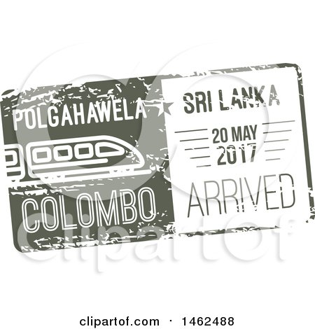 Clipart of a Passport Stamp Design - Royalty Free Vector Illustration by Vector Tradition SM