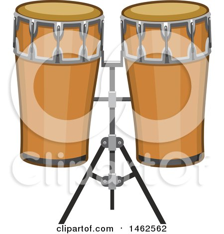 Clipart of a Set of Conga Drums - Royalty Free Vector Illustration by Vector Tradition SM