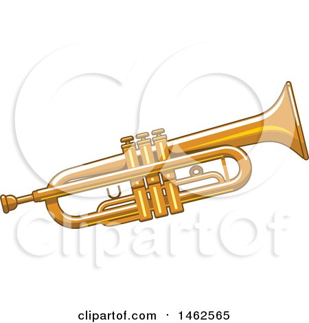 Clipart of a Trumpet - Royalty Free Vector Illustration by Vector Tradition SM