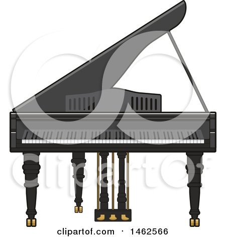 Clipart of a Piano - Royalty Free Vector Illustration by Vector Tradition SM