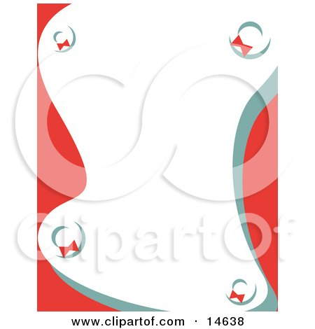 Stationery Background With Wreaths Retro Clipart Illustration by Andy Nortnik