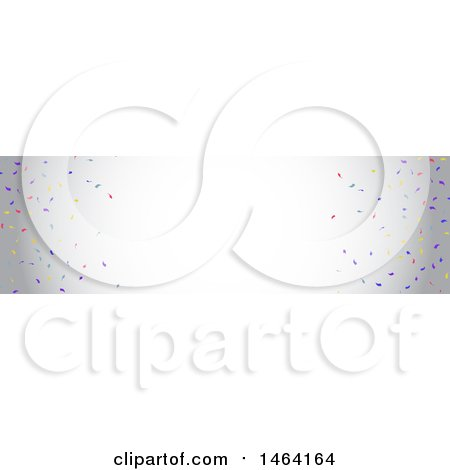Clipart of a Party Confetti Website Banner - Royalty Free Vector Illustration by KJ Pargeter