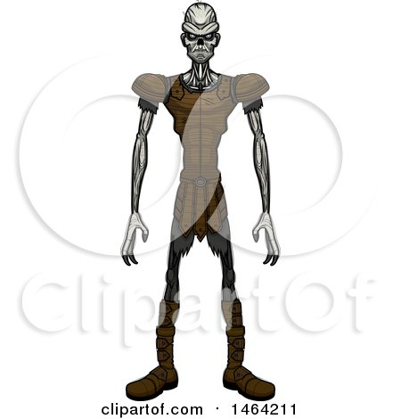 Clipart of a Standing Draugr - Royalty Free Vector Illustration by Cory Thoman