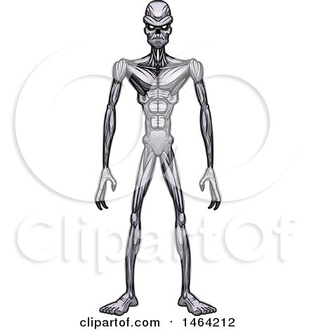 Clipart of a Standing Ghoul - Royalty Free Vector Illustration by Cory Thoman