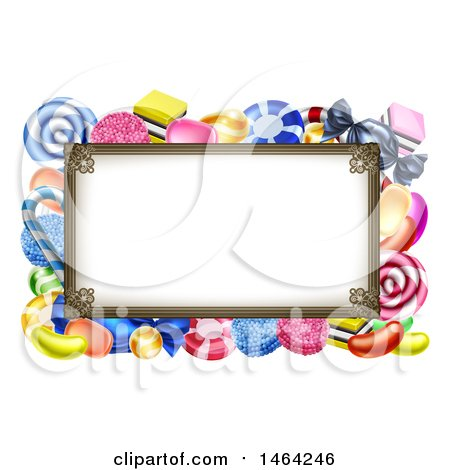 Clipart of a Sign or Border of Candy - Royalty Free Vector Illustration by AtStockIllustration