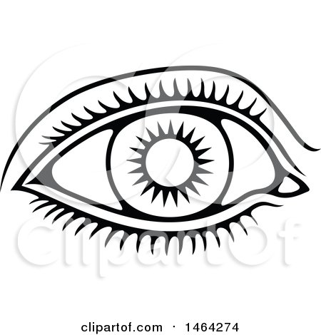 Clipart Of A Black And White Human Eye