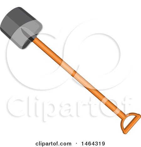 Clipart of a Shovel Garden Tool - Royalty Free Vector Illustration by Vector Tradition SM