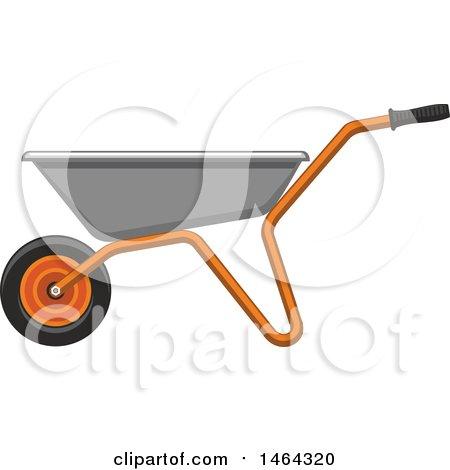 Clipart of a Wheelbarrow Garden Tool - Royalty Free Vector Illustration by Vector Tradition SM