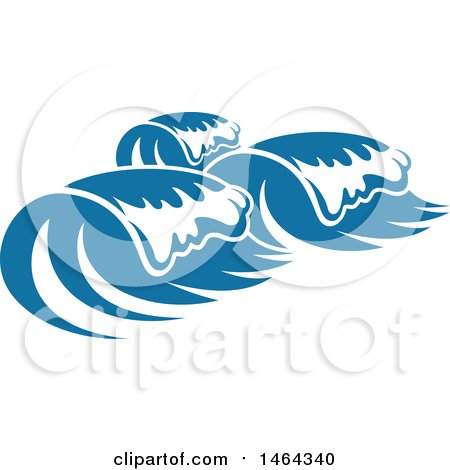 Clipart of a Blue Splash Ocean Surf Wave Water Design - Royalty Free Vector Illustration by Vector Tradition SM