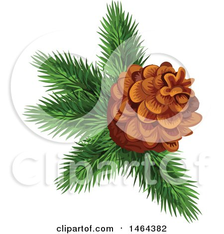 Clipart of a Pinecone - Royalty Free Vector Illustration by Vector Tradition SM
