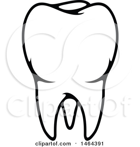 Clipart Of A Black And White Sketched Dentist In Glasses