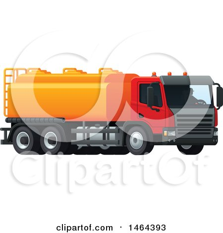 Clipart of a Tanker Truck - Royalty Free Vector Illustration by Vector Tradition SM