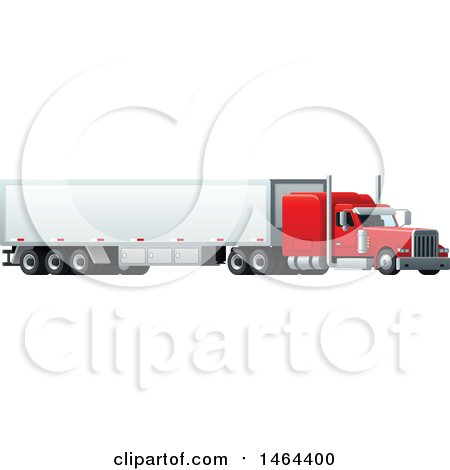 Clipart of a Cargo Truck - Royalty Free Vector Illustration by Vector Tradition SM