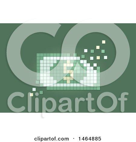 Clipart of a Pixel Dollar Bill - Royalty Free Vector Illustration by BNP Design Studio