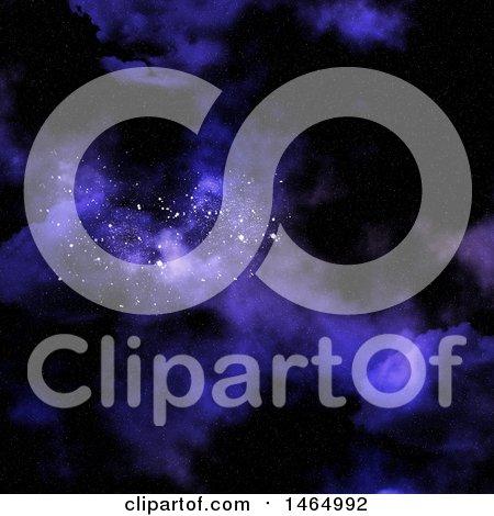 Clipart of a 3d Purple Nebula Background - Royalty Free Illustration by KJ Pargeter