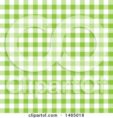 Clipart of a Green Gingham Plaid Background - Royalty Free Vector Illustration by KJ Pargeter