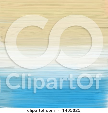 Clipart of a Painted Abstract Beach Colored Background - Royalty Free Vector Illustration by KJ Pargeter