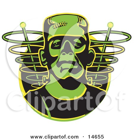 Green Frankenstein Monster Clipart Illustration by Andy Nortnik