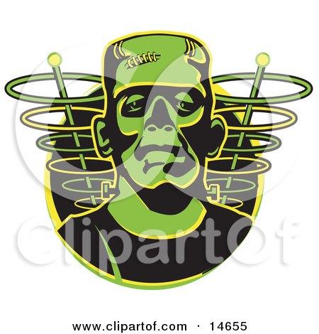 Green Frankenstein Monster  Posters, Art Prints