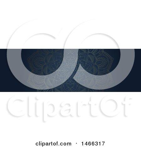 Clipart of a Blue Mandala Website Banner Design - Royalty Free Vector Illustration by KJ Pargeter