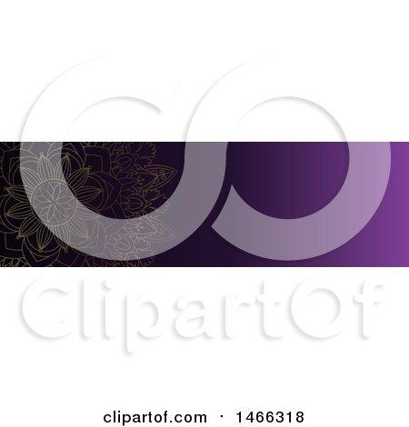 Clipart of a Purple Mandala Website Banner Design - Royalty Free Vector Illustration by KJ Pargeter