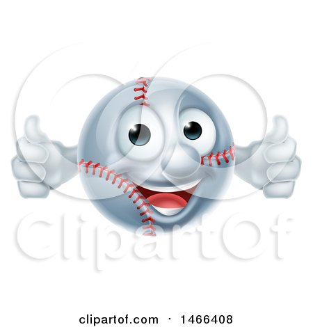 Baseball Mascot Giving Two Thumbs up Posters, Art Prints