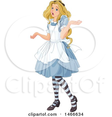 Clipart of Alice Shrugging - Royalty Free Vector Illustration by Pushkin