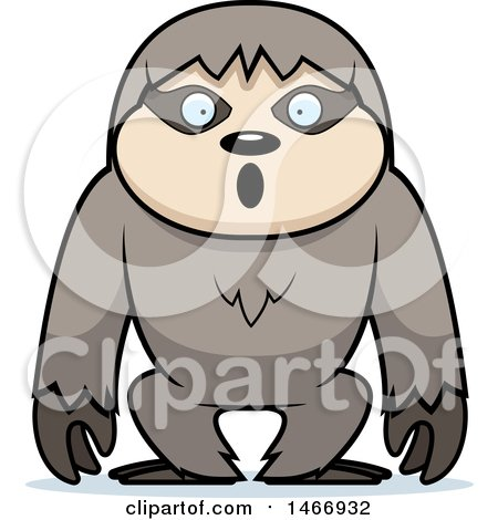 Clipart of a Surprised Sloth - Royalty Free Vector Illustration by Cory Thoman