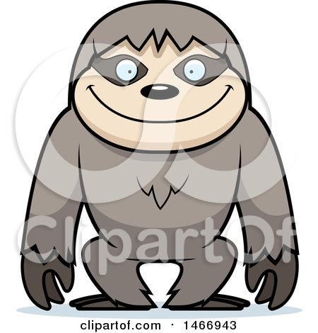 clipart of a happy sloth royalty free vector illustration by cory rh clipartof com sloth clipart images sloth clipart png
