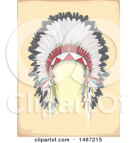 Clipart of a Native American Feather Headdress - Royalty Free Vector Illustration by BNP Design Studio