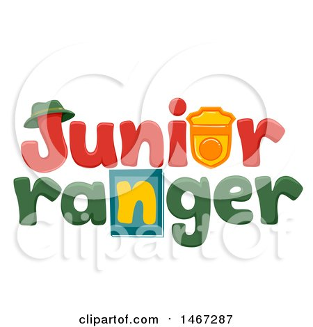 Clipart of a Junior Ranger Word Design - Royalty Free Vector Illustration by BNP Design Studio