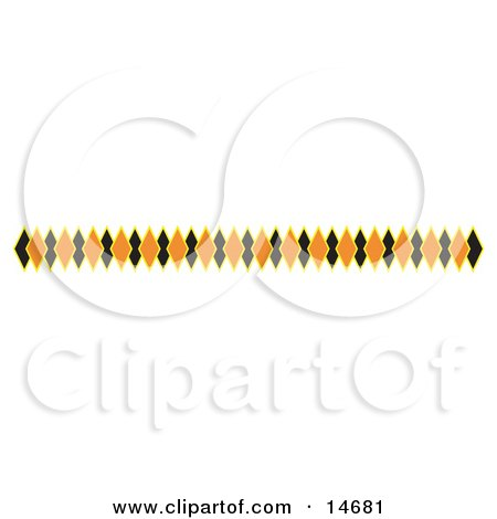 Border of Black and Orange Diamonds Clipart Illustration by Andy Nortnik