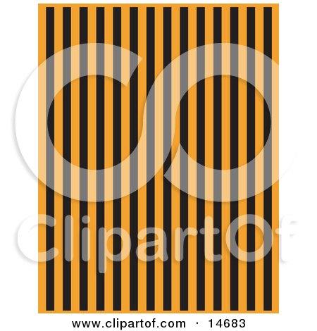 Orange Background With Vertical Black Stripes Clipart Illustration by Andy Nortnik