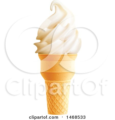 Clipart of a Vanilla Ice Cream Cone - Royalty Free Vector Illustration by Vector Tradition SM