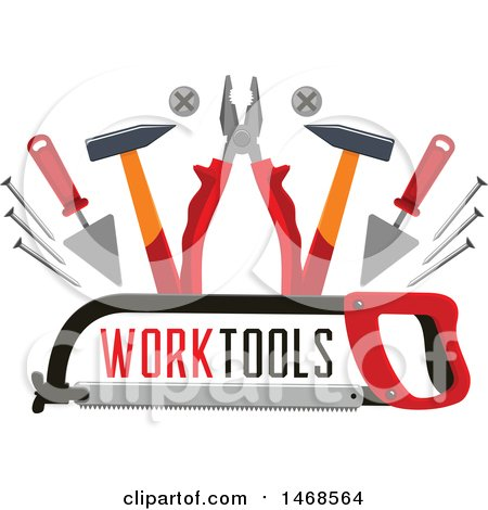 Clipart of a Tool Design with Text - Royalty Free Vector Illustration by Vector Tradition SM
