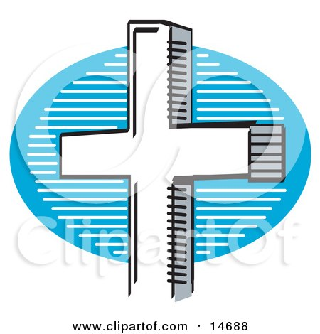 White Crucifix Cross Clipart Illustration by Andy Nortnik