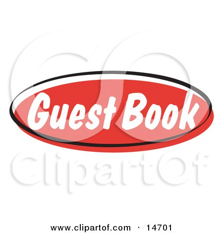 Red Guest Book Internet Website Button Clipart Illustration by ...
