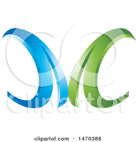 Clipart Of A Green Letter B Design Royalty Free Vector