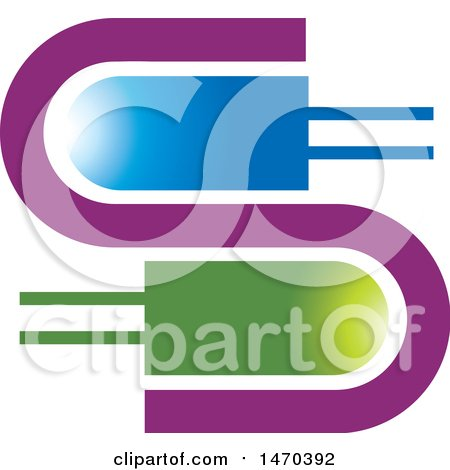 Clipart of a Letter S Design with Led Bulbs - Royalty Free Vector Illustration by Lal Perera