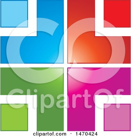 Clipart of a Colorful Abstract Design - Royalty Free Vector Illustration by Lal Perera