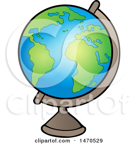 Clipart of a Desk Globe - Royalty Free Vector Illustration by visekart