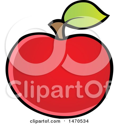 Clipart of a Red Apple - Royalty Free Vector Illustration by visekart