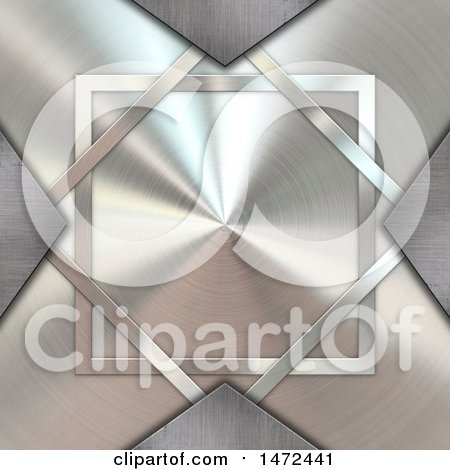Clipart of a Brushed Metal Cross - Royalty Free Illustration by KJ Pargeter