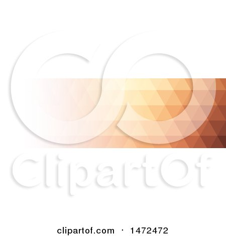 Clipart of a Geometric Low Polygon Banner - Royalty Free Vector Illustration by KJ Pargeter
