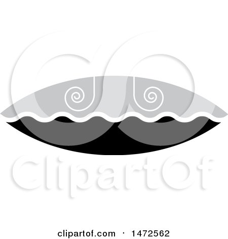 Clipart of a Grayscale Spiral Design - Royalty Free Vector Illustration by Lal Perera