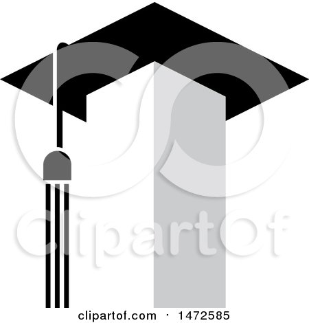 Clipart of a Tower with a Tassel and Graduation Cap Roof - Royalty Free Vector Illustration by Lal Perera