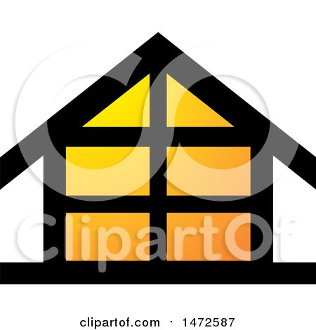 Clipart of a House Icon - Royalty Free Vector Illustration by Lal Perera